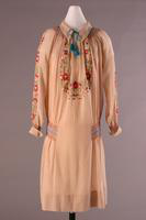 Cotton Gauze Dress with Peasant-Style Embroidery, 1926