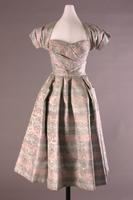 Satin Brocade Evening Dress with Jacket, 1953