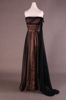 Strapless Chiffon and Satin Evening Dress, 1952-1953