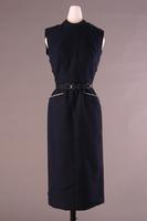 Wool Blend Sleeveless Sheath Dress, about 1952