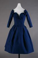 Blue Silk Faille Evening Dress, 1957
