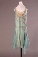 Silk and Satin Embroidered Evening Dress, 1928