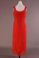 Sleeveless Scoop Neck Chiffon Chemise Dress, about 1930