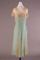 Chiffon Chemise Dress with Shawl Collar, 1929