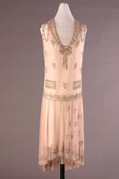 Beaded and Embroidered Georgette Evening Dress, 1928-1929