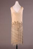 Beaded Silk Chiffon Evening Dress, about 1924