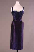 Three-piece Beaded Satin Evening Dress, about 1950