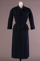 Silk Moire Suit with Asymmetrical Closure, 1951
