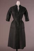 Woman's Grey Polka Dot Two Piece Suit, 1953