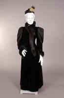 Women's  silk plush evening coat from the nineteenth century
