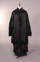 Women's black silk faille dolman from the nineteenth century