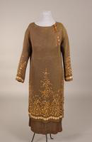 Two-piece knit dress with tunic top from the 1920s