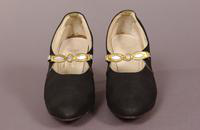 Women's black silk pumps from the mid '20s or early '30s
