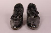 Women's black patent leather shoes from the early twentieth century