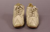Women's white leather oxfords from the turn of the century