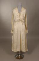 White silk and chiffon dress from the early twentieth century
