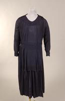 Navy crepe maternity dress from the early twentieth century