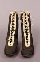 Women's canvas bathing shoes from the early twentieth century