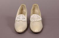 Women's white leather shoes from the 1920s