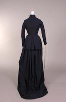 Black wool riding habit from the nineteenth century