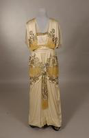 White silk charmuese dress from the early twentieth century