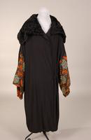 Black crepe women's coat from the early twentieth century