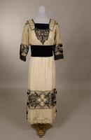 Dress made of very sheer cloth from the early twentieth century