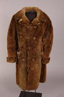 Man's beaver fur overcoat from the nineteenth century