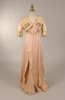 Pale lavender-pink faille gown from the early twentieth century