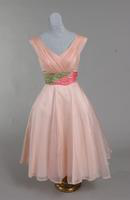 Bridesmaid's dress of pale pink silk organza from the 1950s