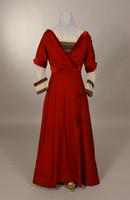 Red wool dress from the early twentieth century
