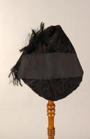 Women's  black Persian lamb hat from the 1930s
