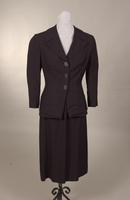 Women's navy wool suit from the 1950s