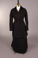 Black wool, single breasted Women's jacket from the early twentieth century