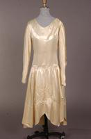Eggshell satin wedding gown from the 1920s
