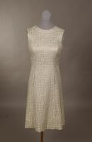Re-embroidered cloque evening dress from the 1960s