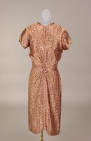 Crepe-backed satin cocktail dress from the late 1930s to mid 1940s