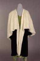 Women's black velvet and ermine cape from the 1930s