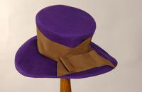 Women's purple felt hat from the 1940s