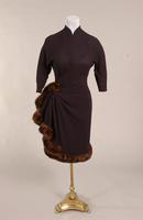 Black wool cocktail dress from the 1950s