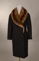 Women's winter coat of black novelty wool from the 1940s