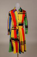 A- line street-length dress of wool jersey from the 1970s