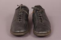 Women's black leather sport shoes from the early twentieth century