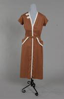 Brown linen from the 1950s