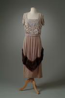 Beaded Silk Velvet Evening Gown, 1919