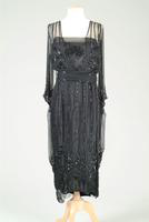 Beaded Chiffon Evening Gown, 1917