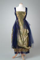 Evening Gown of Green  and Gold, 1921