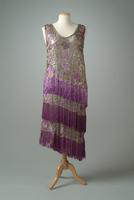 Embroidered Evening Gown, with fringe, 1924