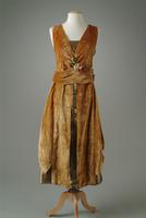 Gold Velvet Evening Gown, 1921