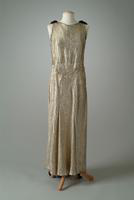 Gold Brocade and Velvet Evening Gown, 1934
